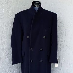 COPY - RICCI DOUBLE BREASTED MEN'S LONG OVERCOAT/…